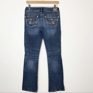 AMERICAN EAGLE Embroidered Kick Boot Denim Jeans 4